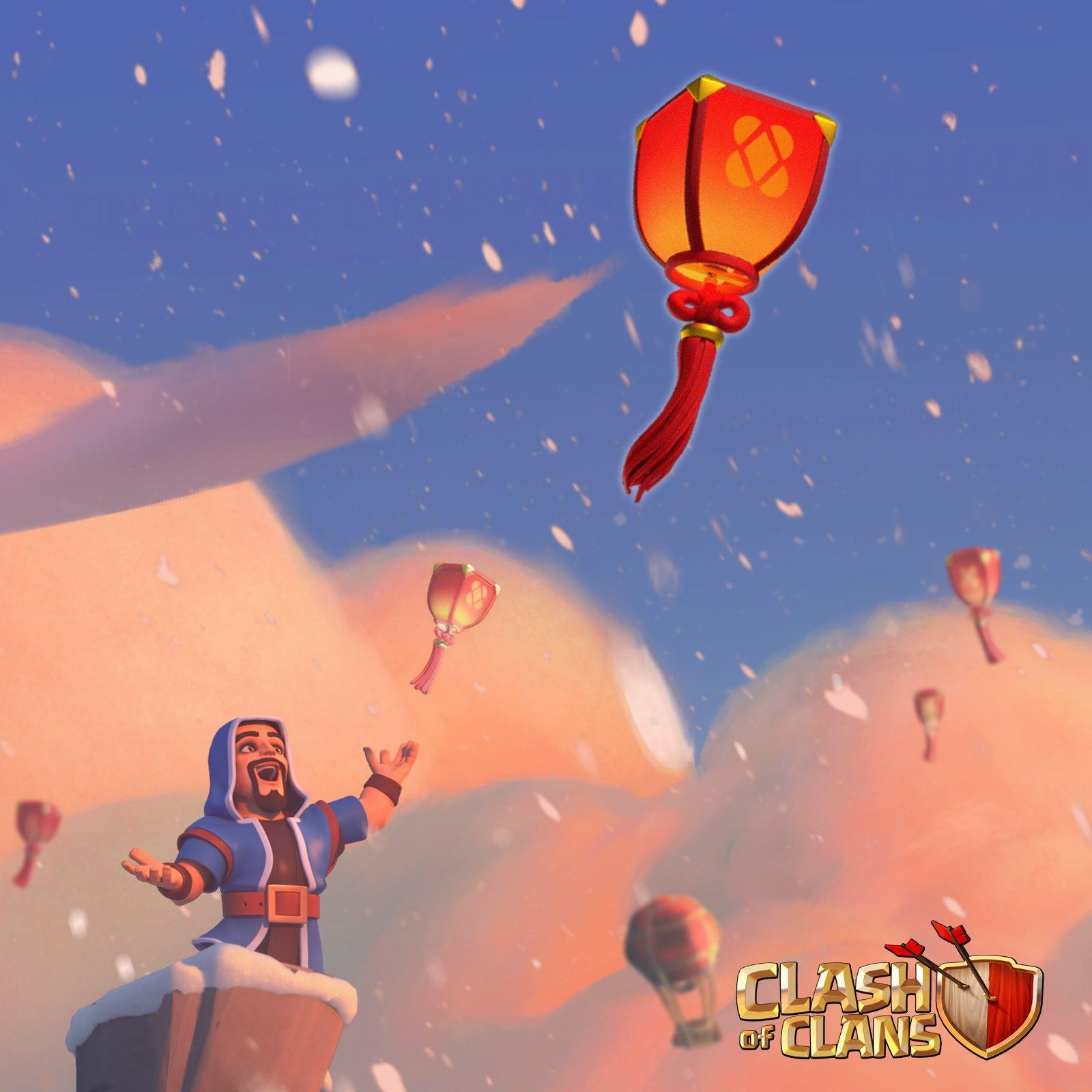 Hình ảnh Clash of clans đèn lồng