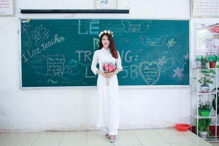 Hình ảnh cô giáo đáng yêu
