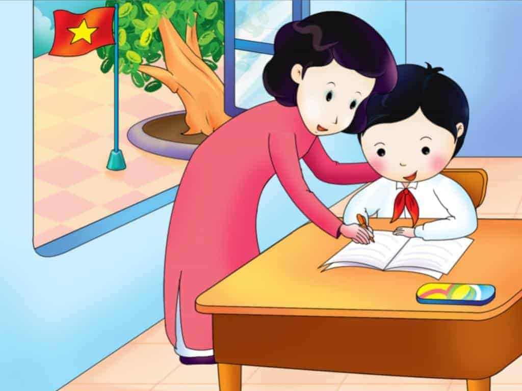 Hình ảnh cô giáo hoạt hình