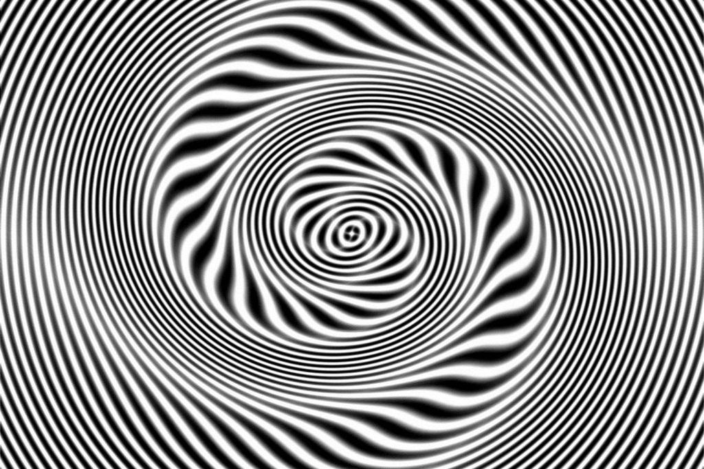 Hình ảnh đen trắng ảo giác 3D