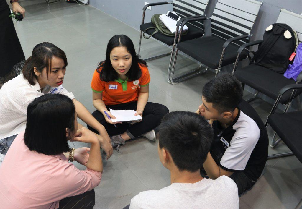 Hình ảnh khi làm việc nhóm