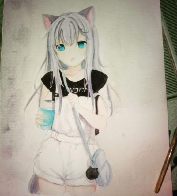 Mẫu tranh vẽ anime