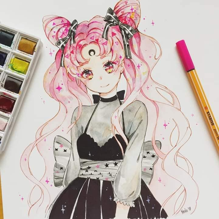 Mẫu vẽ tranh anime