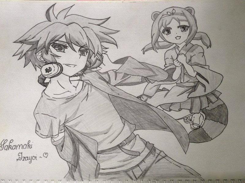 Tranh vẽ anime bằng bút chì