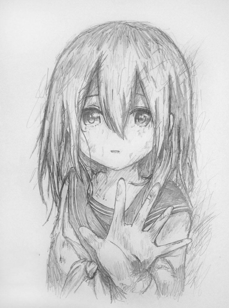 Tranh vẽ anime bút chì đẹp