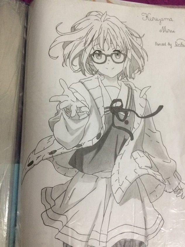 Tranh vẽ anime bút chì