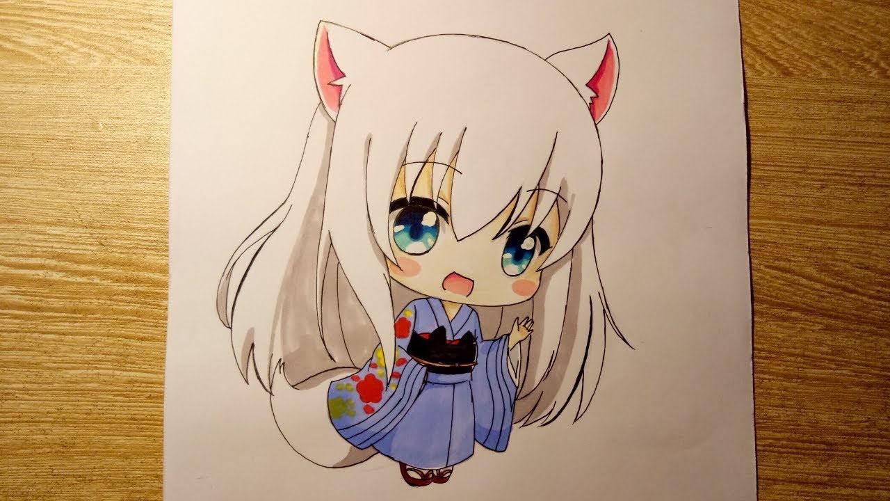 Tranh vẽ anime chibi đẹp