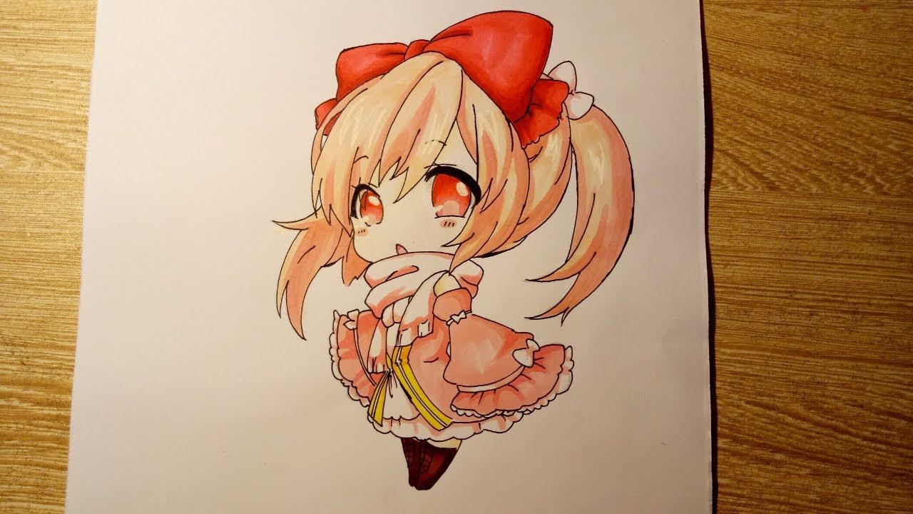Tranh vẽ anime chibi