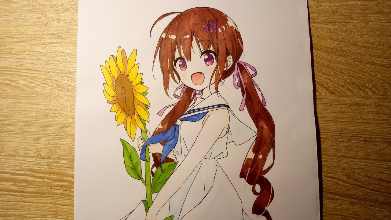 Tranh vẽ anime cute