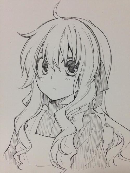 Tranh vẽ anime đen trắng