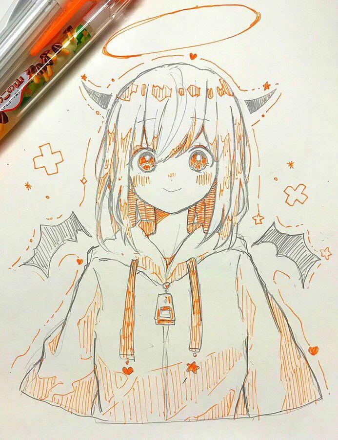 Tranh vẽ anime đẹp