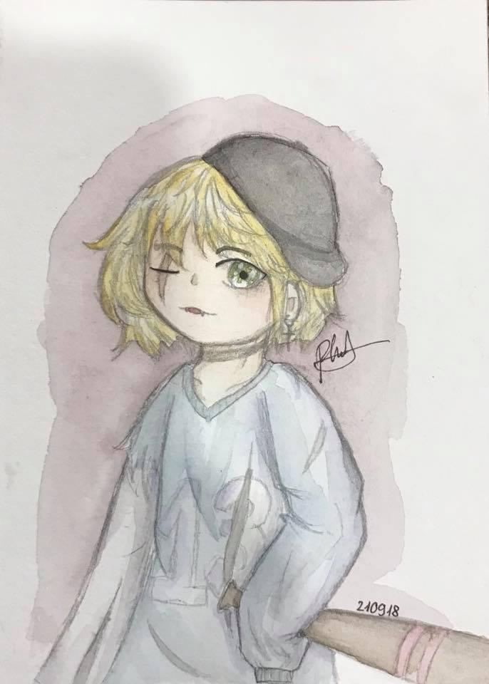 Tranh vẽ anime đơn giản mà đẹp