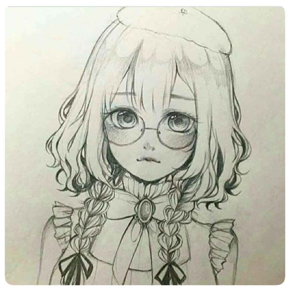 Tranh vẽ anime girl đẹp