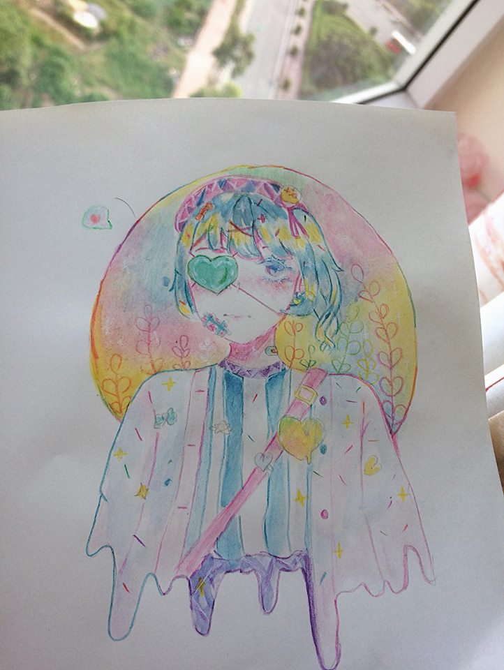 Tranh vẽ anime nghệ thuật