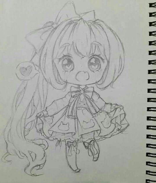 Tranh vẽ anime nháp