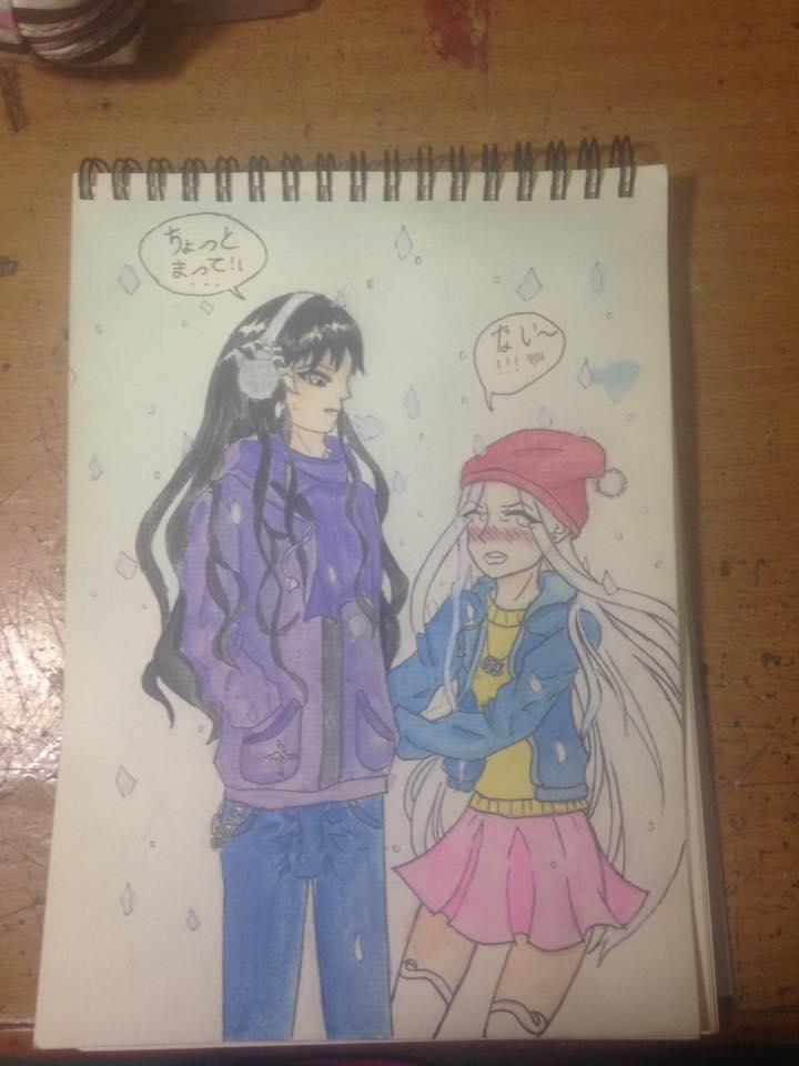 Tranh vẽ anime trên giấy