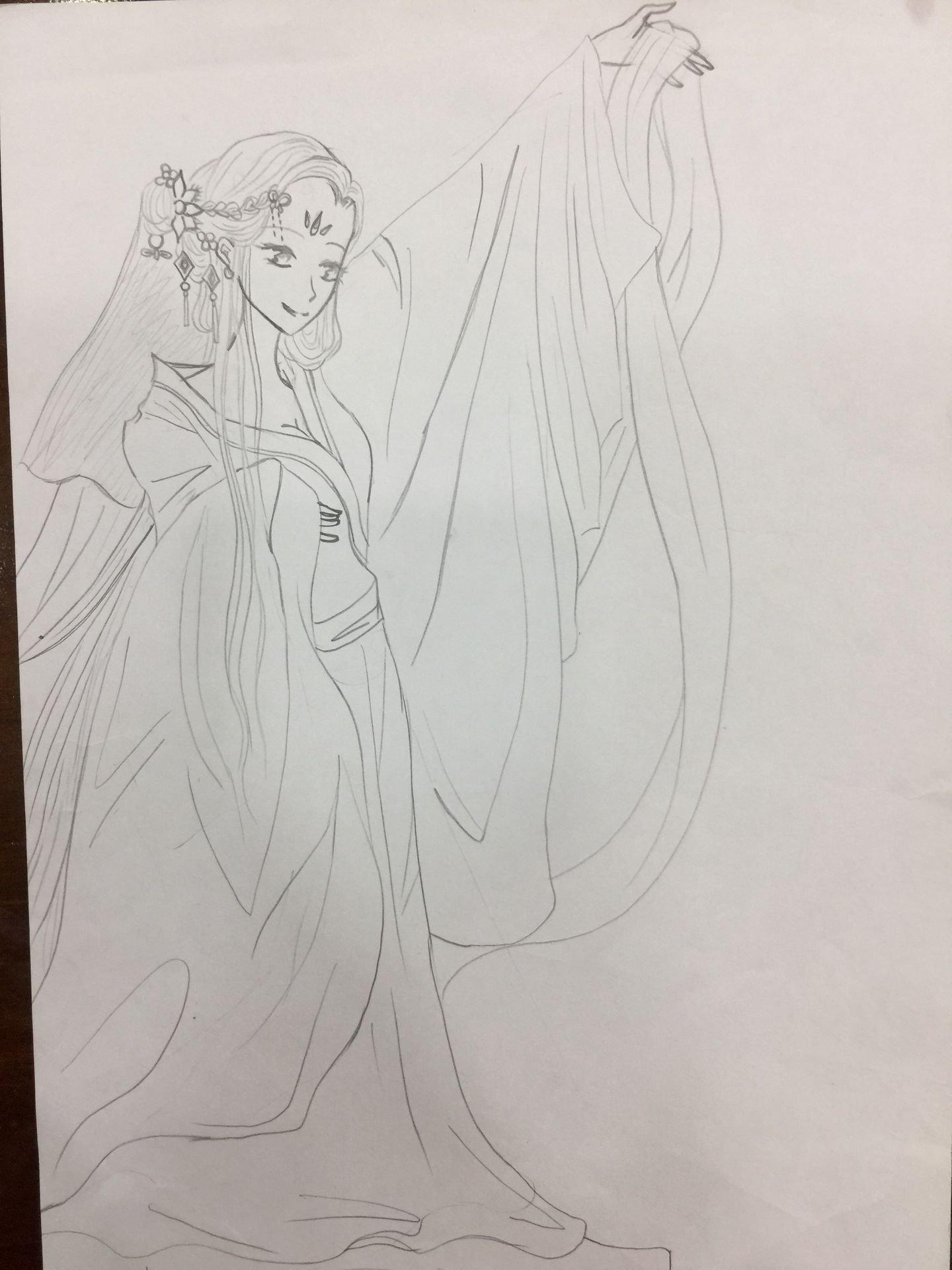 Tranh vẽ bút chì anime
