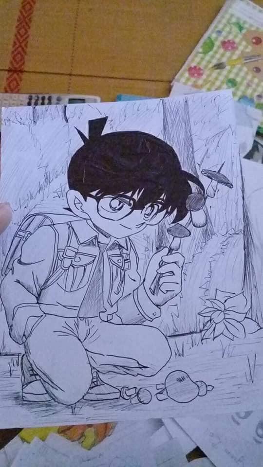 Tranh vẽ conan anime