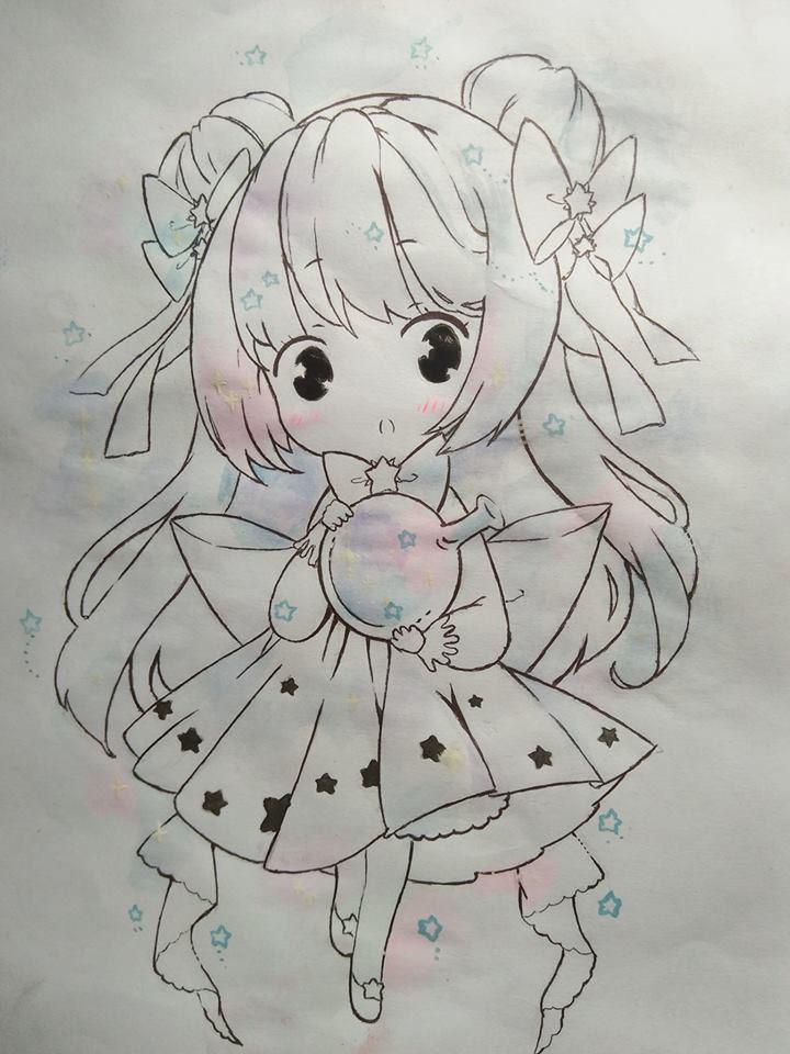 Tranh vẽ nhân vật anime đẹp