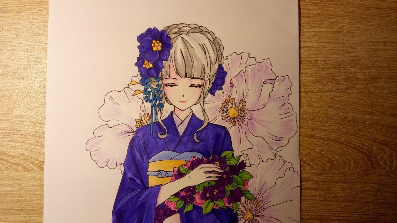 Tranh vẽ nhân vật anime