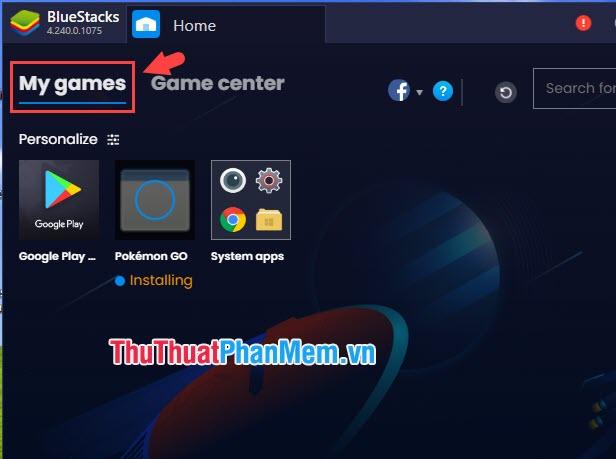 Bạn click sang thẻ My games và sẽ nhìn thấy ứng dụng đang được cài đặt