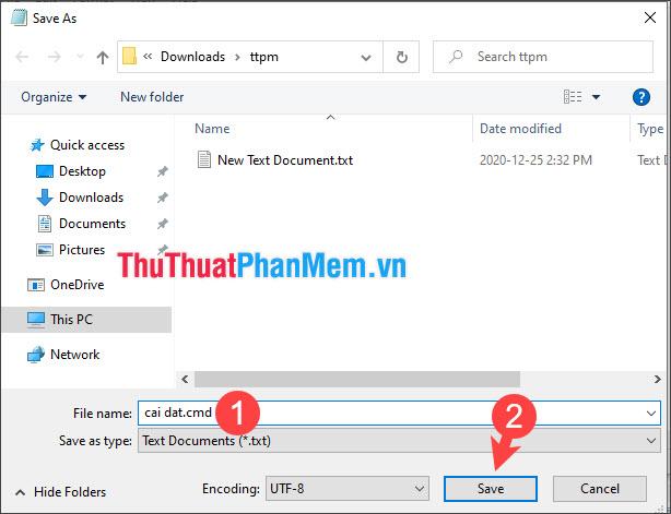 Bạn phải lưu file vào cùng thư mục giải nén Office deployment tool