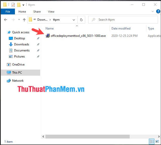 Click đúp vào file để mở phần mềm lên