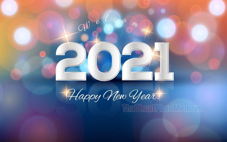 Hình nền chúc mừng năm mới 2021 cực đẹp