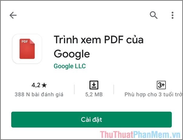 Tiến hành truy cập trang chủ và chọn Cài đặt để tải phần mềm về máy tính