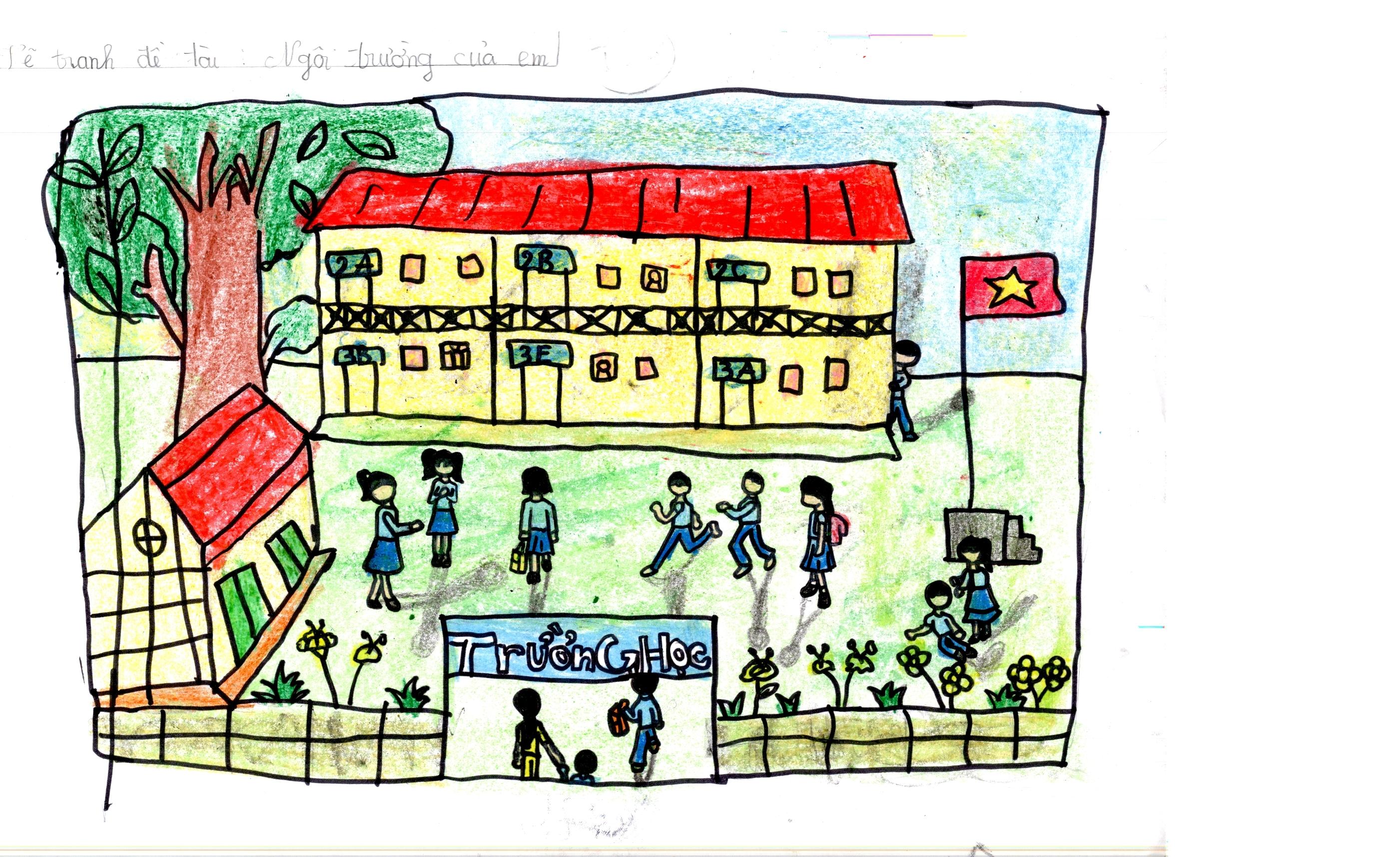 Tranh vẽ ngôi trường