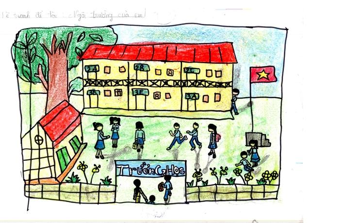 Tranh vẽ trường học của em