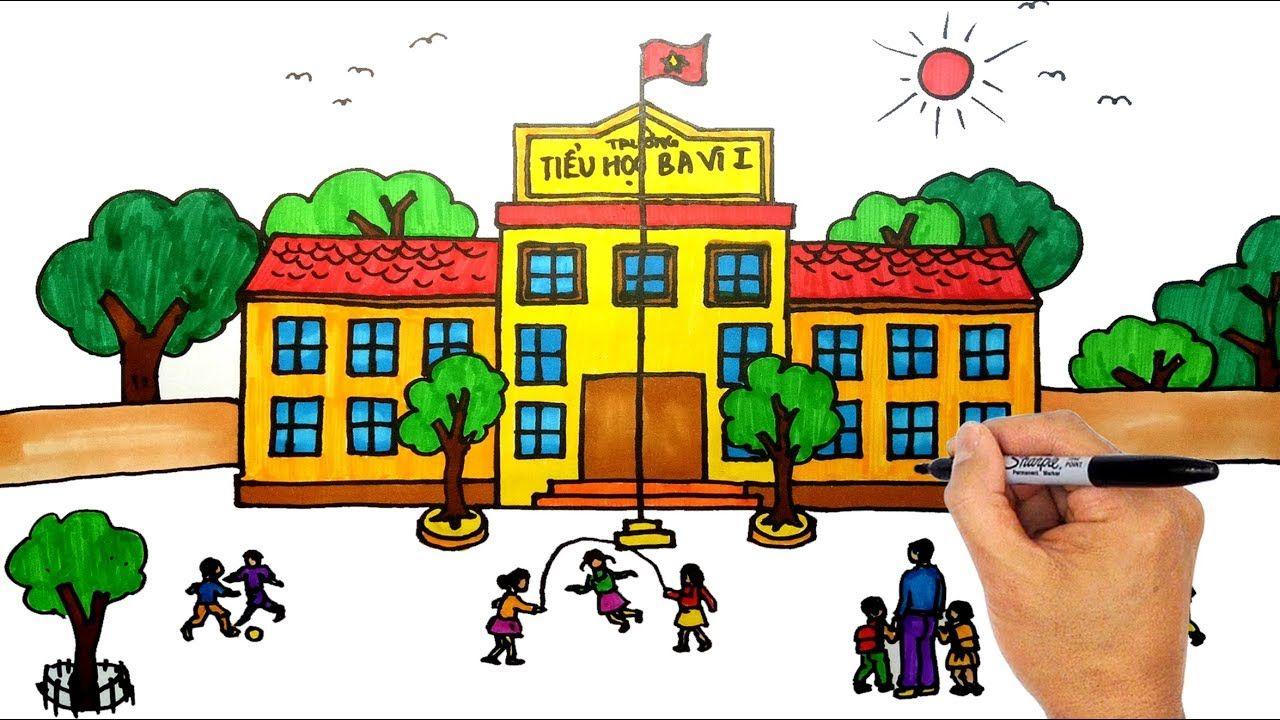 Vẽ tranh ngôi trường