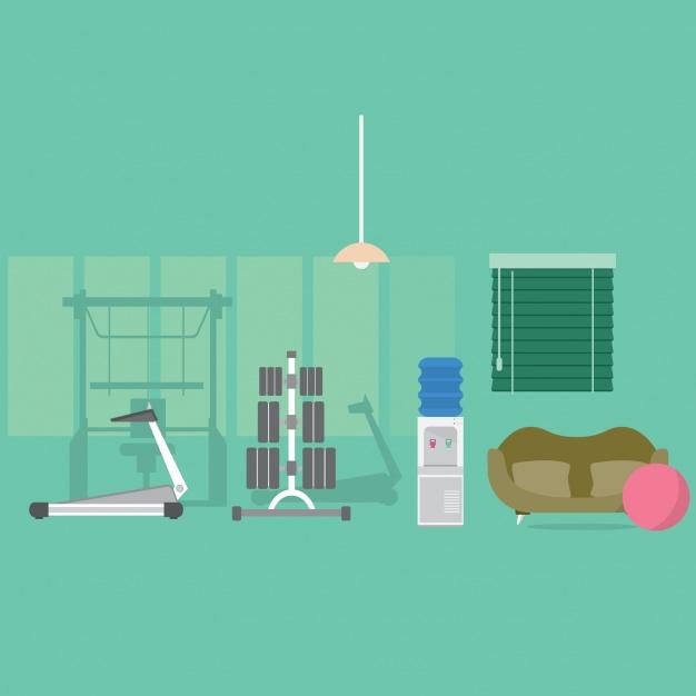 Background gym hoạt hình