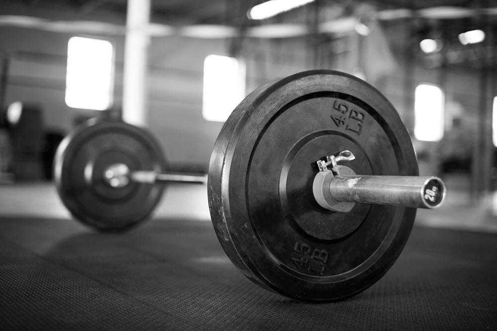Background gym tạ đơn