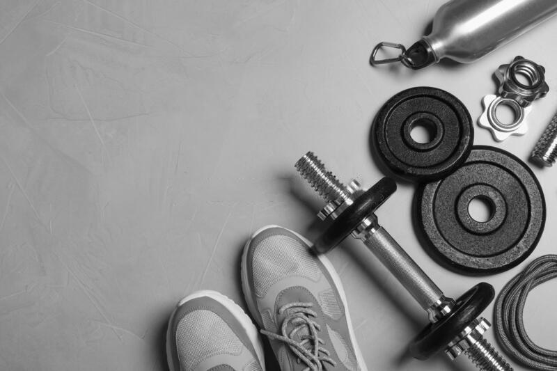 Background gym trắng đen