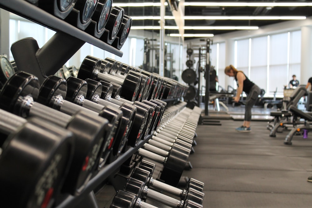 Hình ảnh background tạ gym