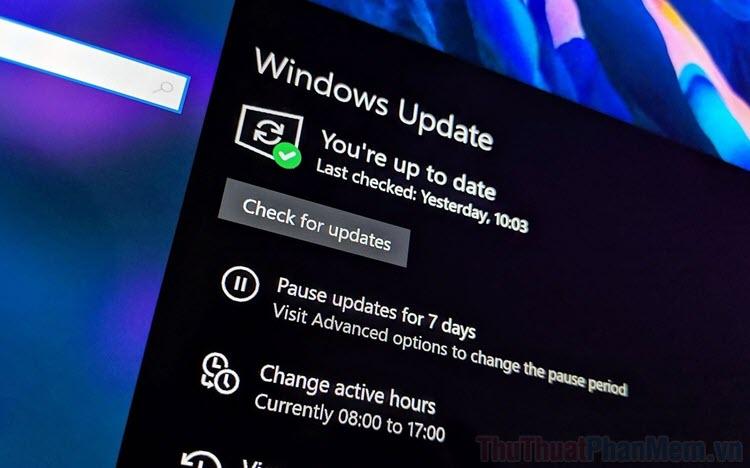 Cách bỏ qua Update để tắt máy tính Windows 10