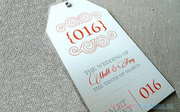 Mẫu vé xe đám cưới đẹp