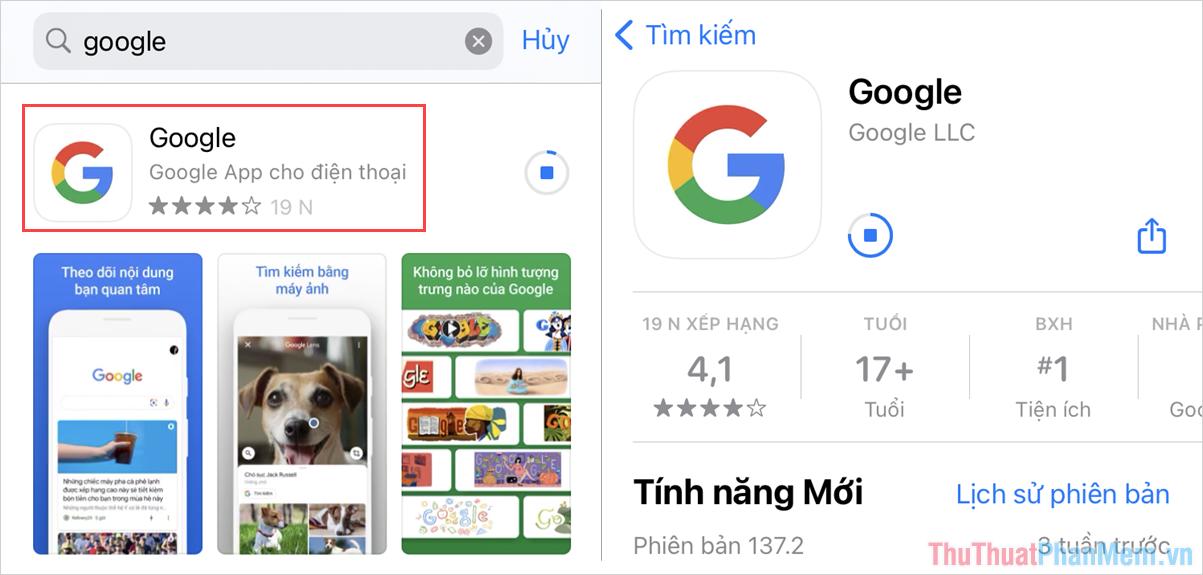 Truy cập trang chủ của Google để tải và cài đặt phần mềm về thiết bị