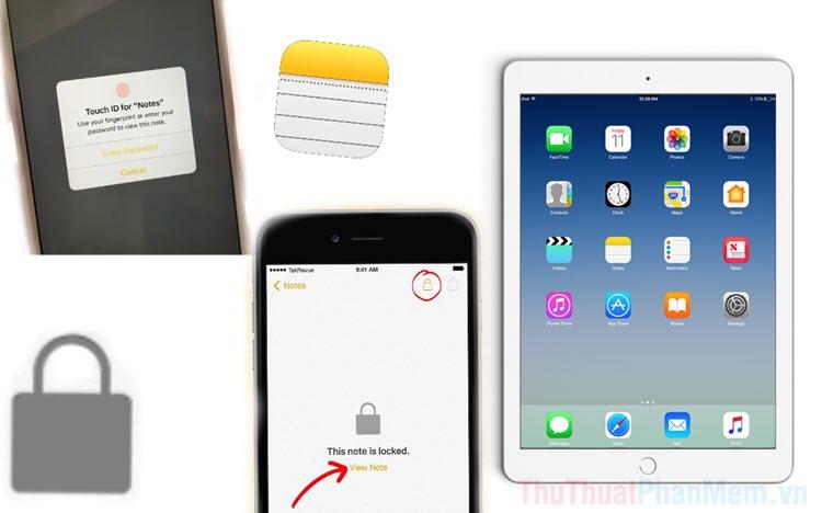 Cách khóa ghi chú trên iPhone ,iPad