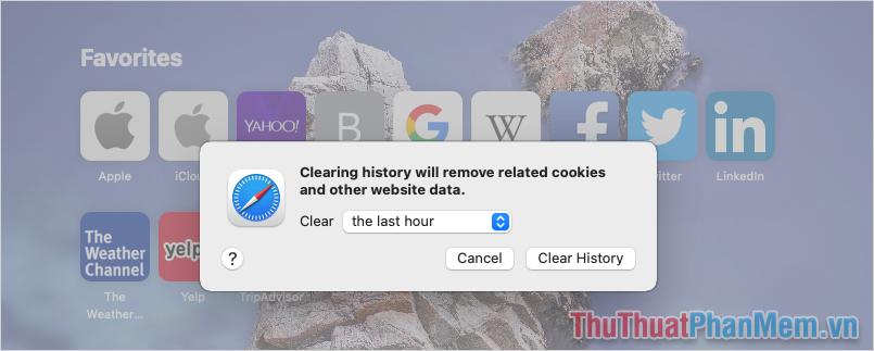Chọn Clear History để xác nhận xóa dữ liệu duyệt Web là hoàn tất