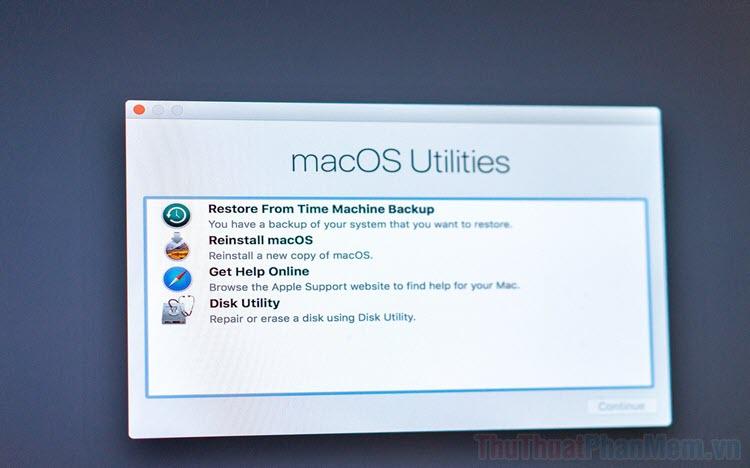 Cách vào Recovery Mode trên máy Mac sử dụng Chip Apple Silicon