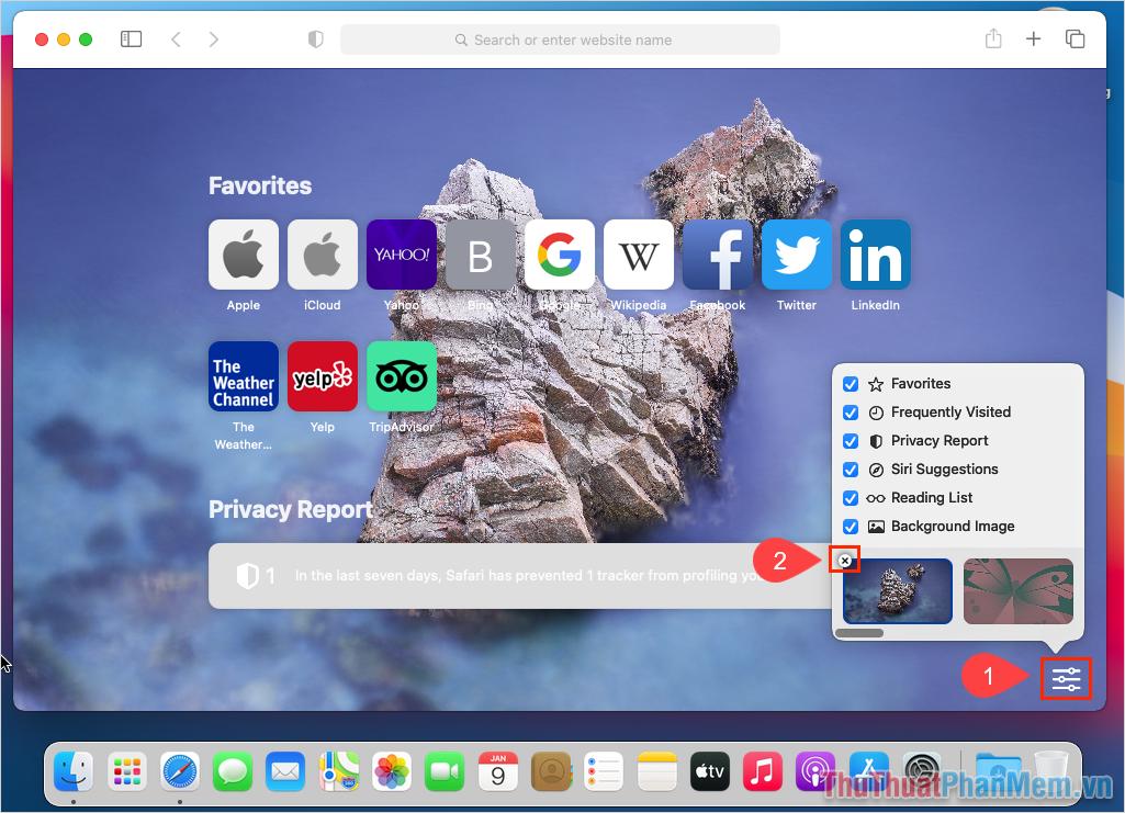 Tắt tính năng hình nền Safari, các bạn chỉ cần bỏ chọn mục Background Image