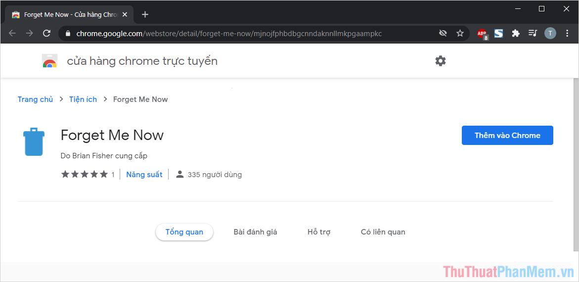 Chọn Thêm vào Chrome để cài đặt