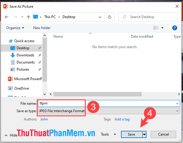 Đặt tên cho file ảnh và chọn định dạng ảnh