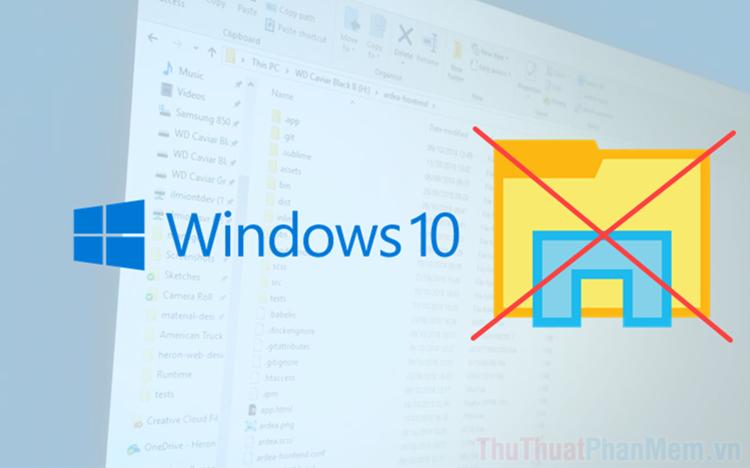 Cách xoá toàn bộ thư mục trống, thư mục rác trên Windows 10