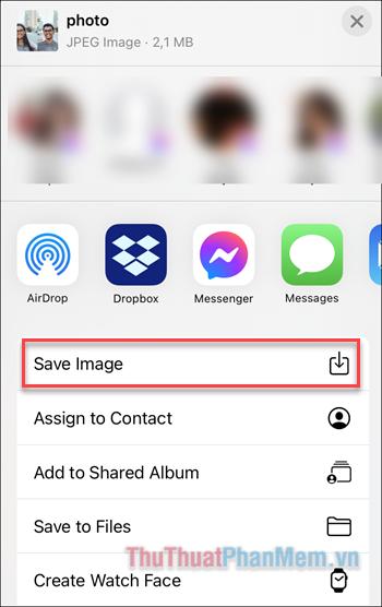 Bạn có thể chia sẻ ảnh trên các ứng dụng mạng xã hội hoặc Save image để lưu ảnh vào thư viện
