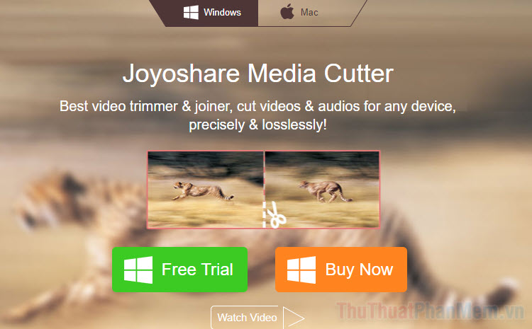 Cắt video với Joyoshare Media Cutter