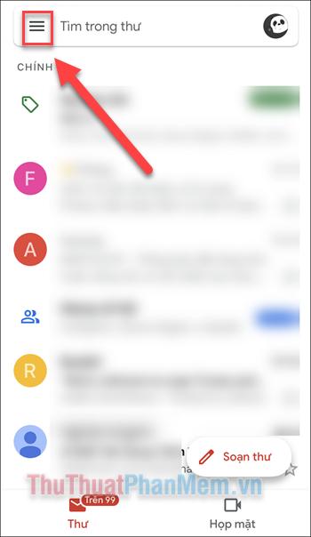 Mở ứng dụng Gmail trên điện thoại của bạn