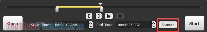 Nhấn vào nút Format và bạn sẽ có khả năng chọn định dạng đầu ra mà mình mong muốn